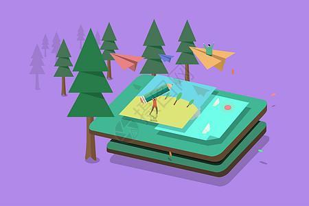 教育类扁平插画图片