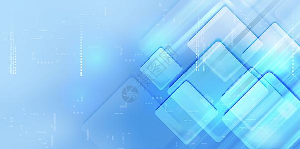 蓝色版块形状科技感背景图片