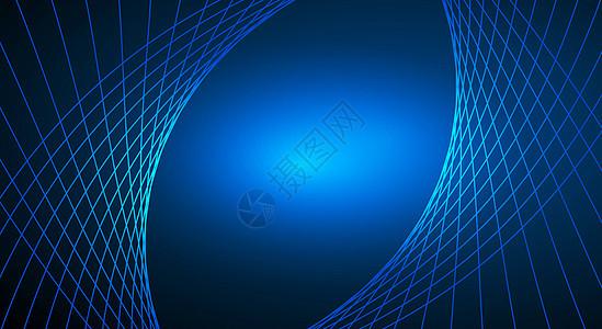 蓝色简单科技线条背景图片