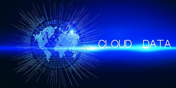 云数据蓝色科技背景图片