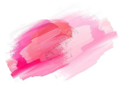 手绘粉色水彩墨迹背景图片