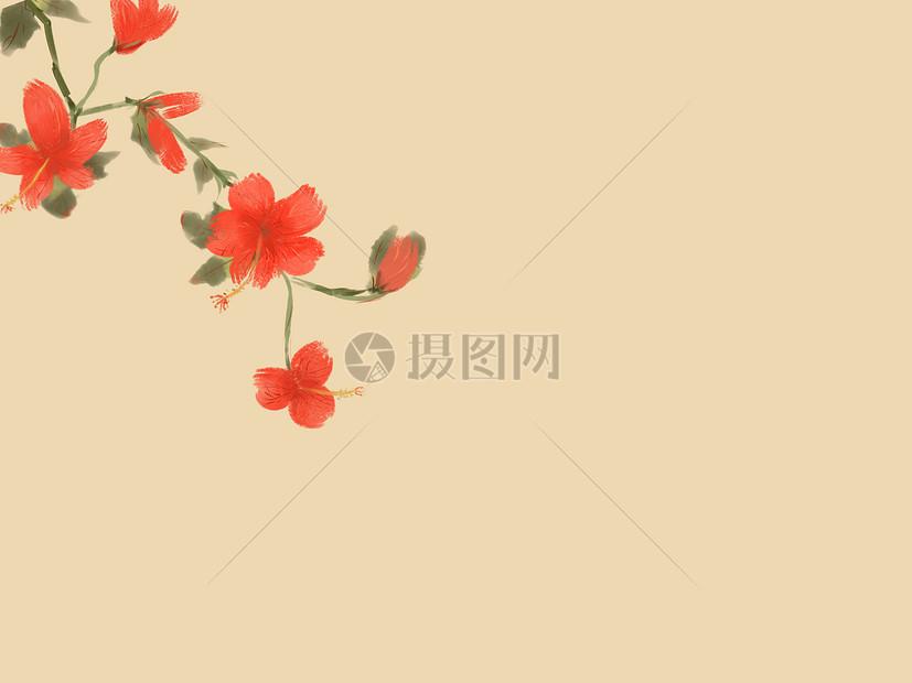 中秋彩色图片_手绘花朵插画图片下载-正版图片400061651-摄图网