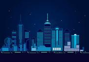 星空下的城市图片