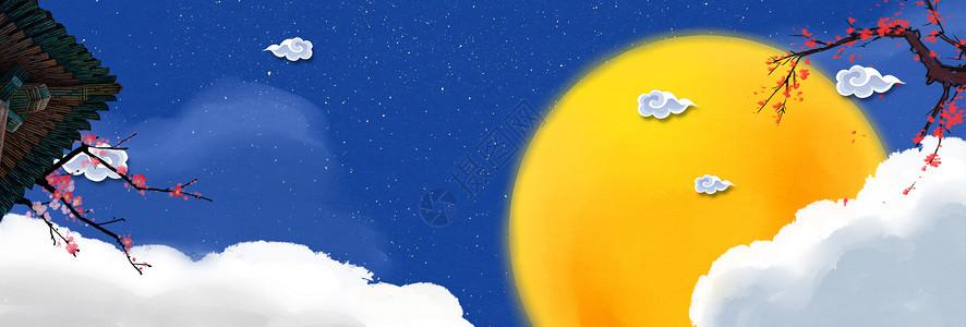 夜空月圆嫦娥中秋节图片