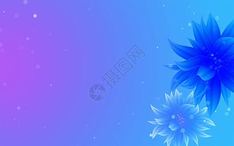 梦幻酷炫花朵背景图片