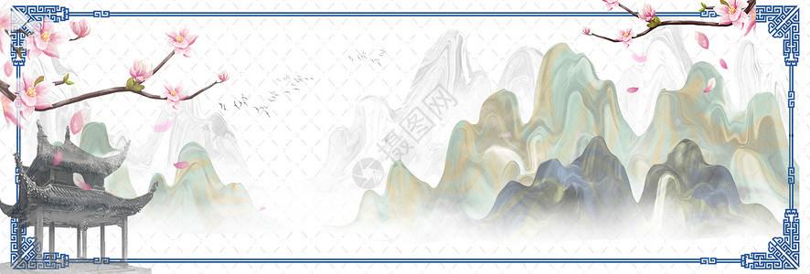 中国风青花瓷背景图片