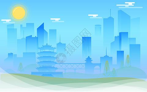 武汉景点建筑背景图片
