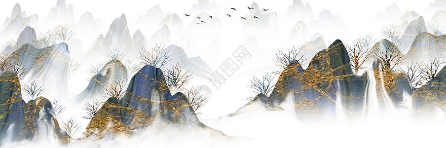 山水风景矢量素材图片