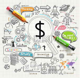 商务创意手绘设计矢量素材图片