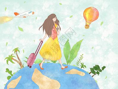 十一旅行插画图片