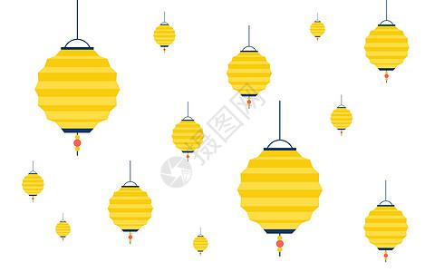 中秋灯笼元素图片