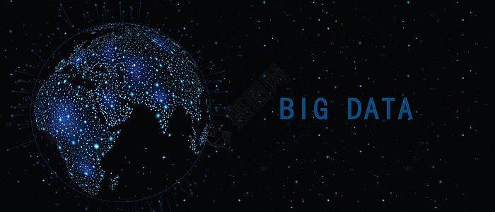 酷炫大数据科技背景图片