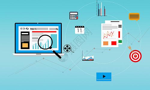搜索统计营销办公图片