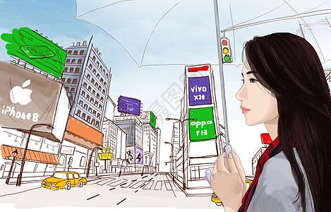 都市漫步图片