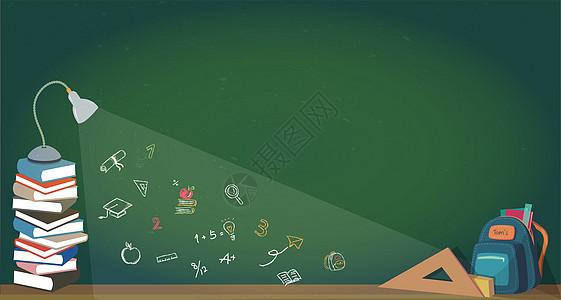 开学黑板背景图片