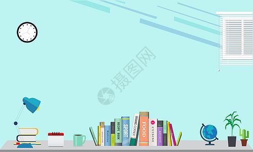 小清新书桌背景图片