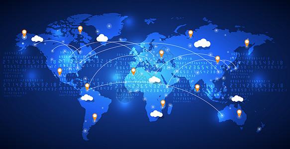 全球信息定位移动社交技术图片