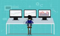 电脑数据统计分析图片