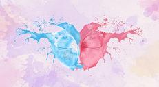 水彩蝴蝶图片