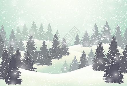 冬天郊外雪景图片