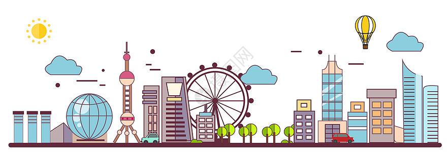 上海矢量建筑图片