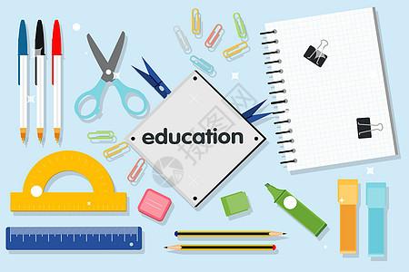 教育矢量背景图片