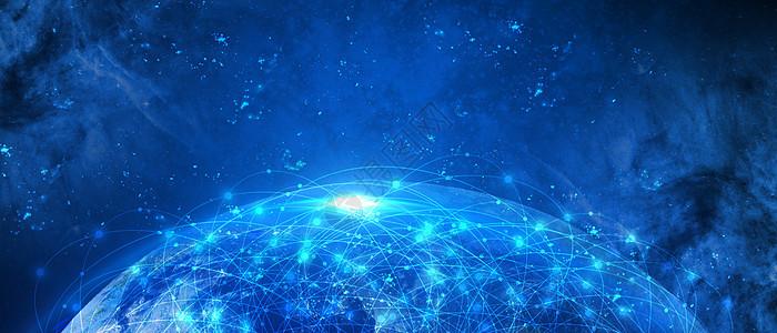 蓝色大数据科技背景图片