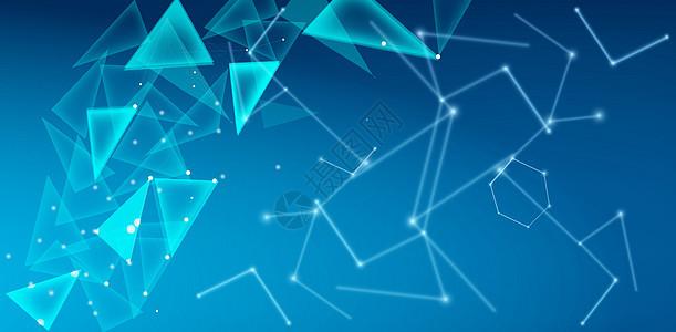 蓝色版块信息科技背景图片