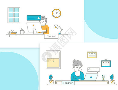 线上对话式教育图片
