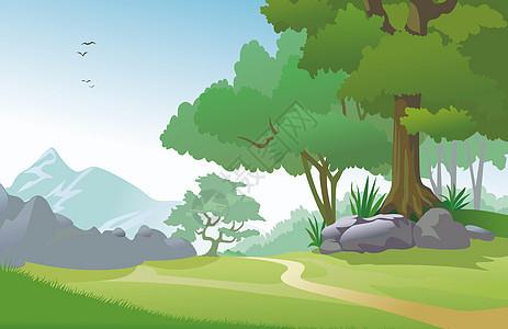 绿色森林背景图片