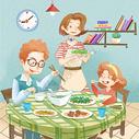 家庭聚会图图片