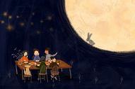 赏月团圆图片