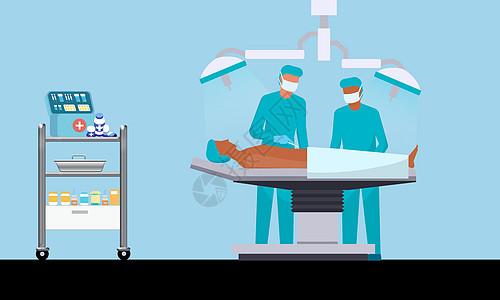 手术中的病人图片