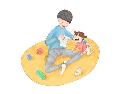 亲子玩玩具图片