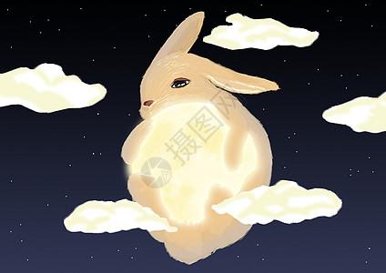 中秋玉兔背景图片