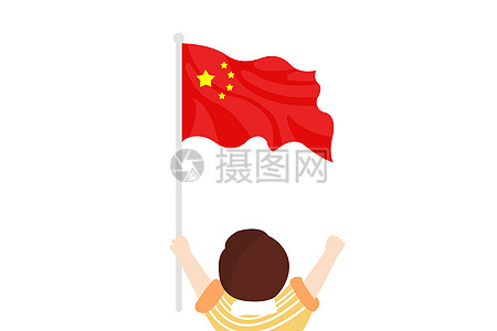 飘扬的国旗图片