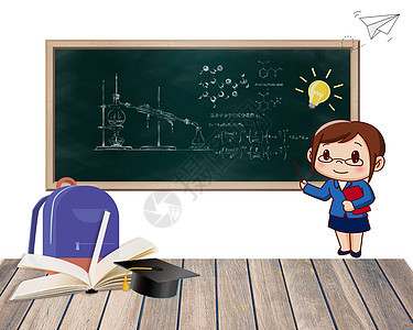 教室场景教育背景图片