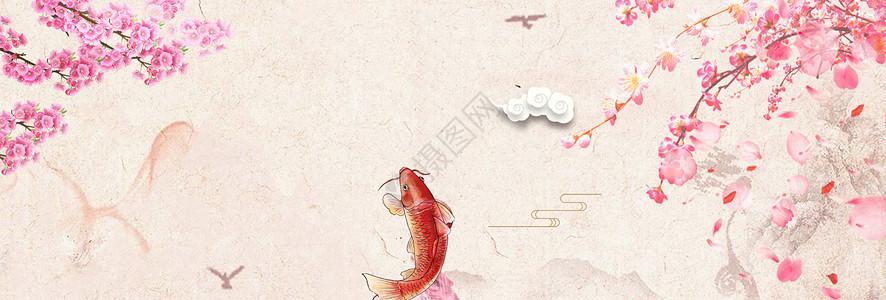 中国风唯美桃花背景图片