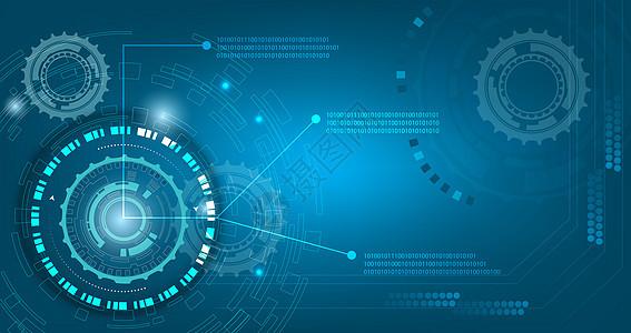 蓝色线条数字化科技背景图片