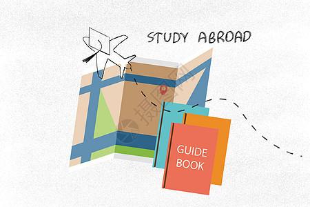 留学飞机地图图片
