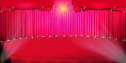 红色灯光舞台背景图片