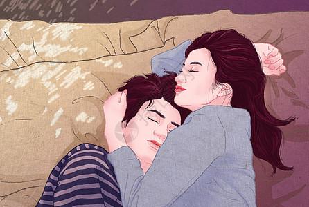 轻色情情侣插画图片