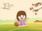 秋天矢量插画图片