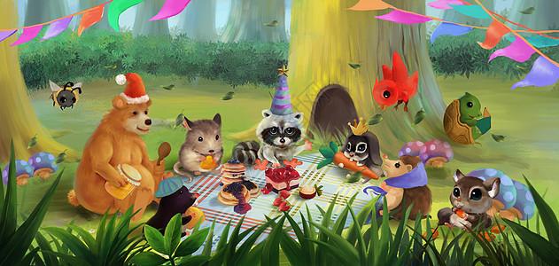 动物聚会图片