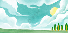 晴朗的草原图片