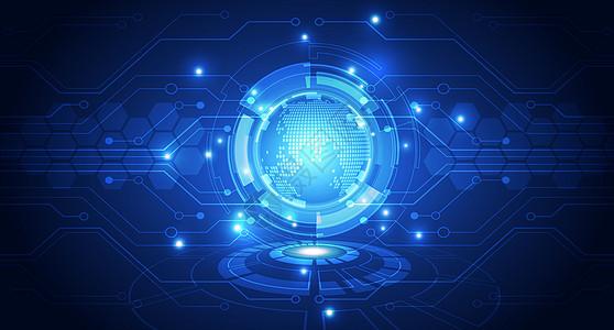 全球化信息技术科技背景图片