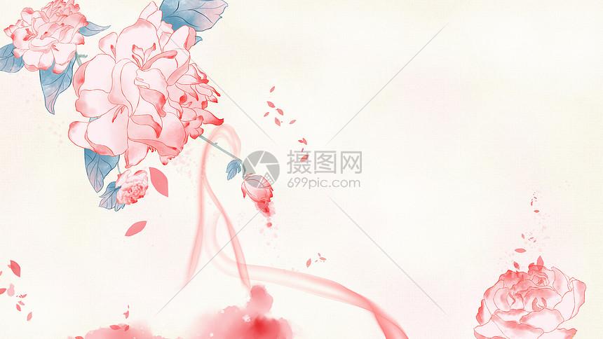 中国风牡丹花开富贵图片