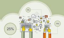 商务科技矢量背景图片