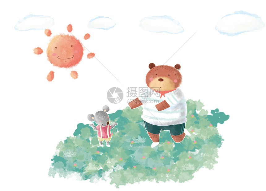 唯美图片 教育文化 可爱动物卡通psd  分享: qq好友 微信朋友圈 qq