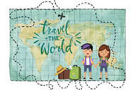 情侣旅行走遍世界图片